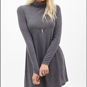 Forever 21 Small heathered gray turtle neck dress